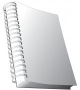 brochure met metalen ringen